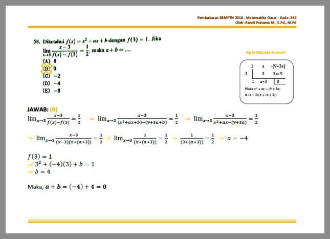 Pembahasan Soal Cpns Matematika Dasar Sbmptn 2016 Soal Dan Pembahasan Contoh Soal Prediksi